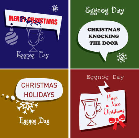 The date before the Christmas holidays is Eggnog Day 向量圖像
