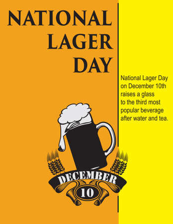 Information poster for the event in December - Lager Beer Day 向量圖像