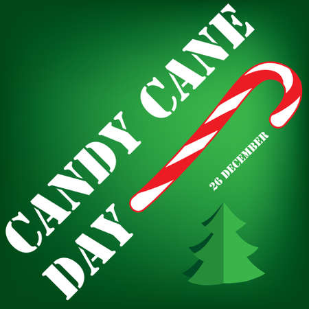 Candy Cane Day poster for December event. 向量圖像