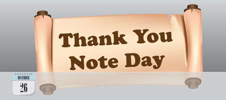 Post card for event december day Thank You Note Day