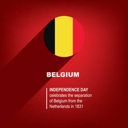 National Holiday in Belgium - Independence Day. Poster for event