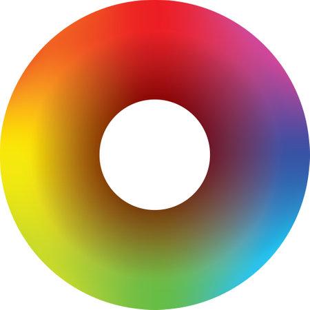 Human bioenergetic health circular color scheme. 向量圖像