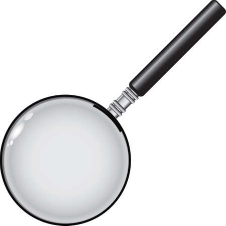 Standard magnifying glass for industrial use. Vector illustration.
