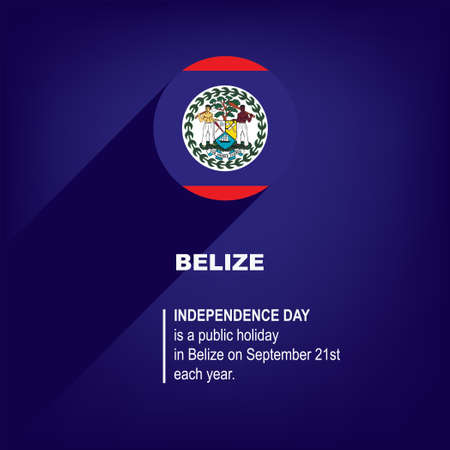 National Holiday in Belize - Independence Day. Poster for event
