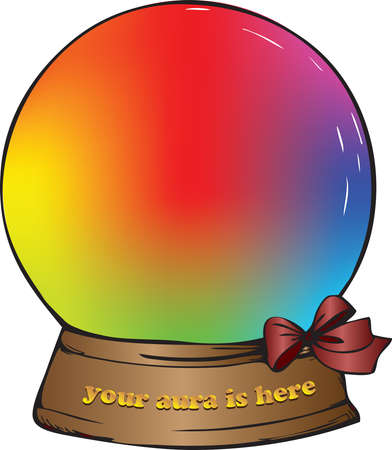 Gift souvenir ball filled with different colors of the human aura.