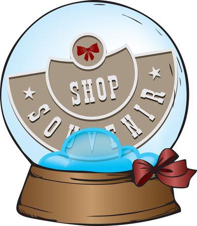 Souvenir gift ball for a souvenir shop. Vector illustration. 向量圖像