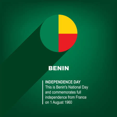 National Holiday in Benin - Independence Day. Poster for event 向量圖像