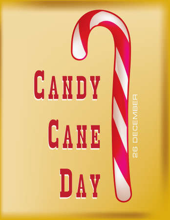 Day reminder of the date Candy Cane Day.