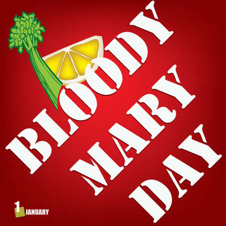 Banner for Bloody Mary Day - alcoholic drink date