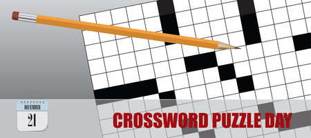 Post card for event december day Crossword Puzzle Day