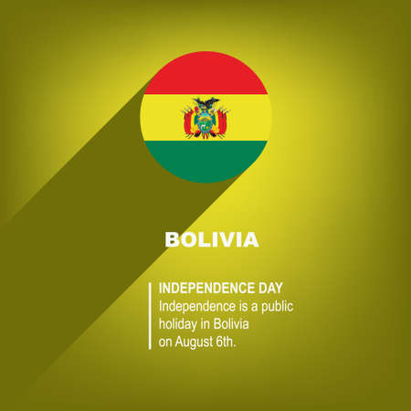 National Holiday in Bolivian - Bolivian Independence Day. Poster for event