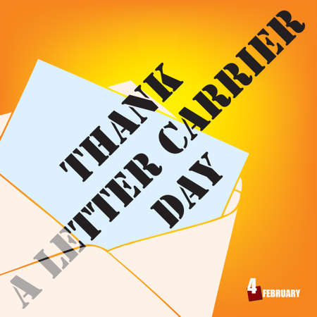 Holiday date in February Thank A Letter Carrier Day.