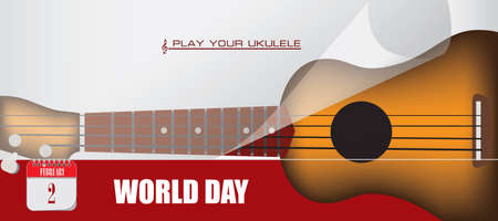 Card for event february day World Play Your Ukulele Day