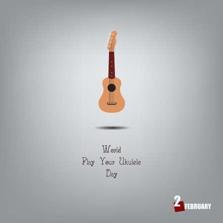 Musical feast in February - World Play Your Ukulele Day. Çizim