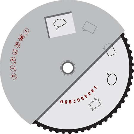 Digital dial for manual selection. Vector illustration.