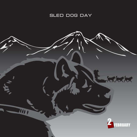 National traditional holiday in February is Sled Dog Day.
