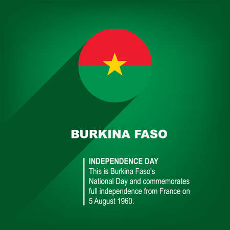 National Holiday in Burkina Faso - Independence Day Çizim