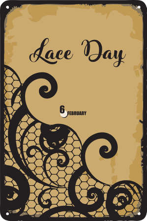 A day dedicated to lace-related crafts in February Lace Day Çizim