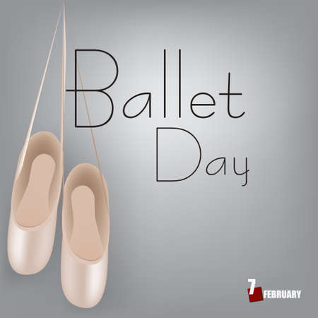 Festive date dedicated to ballet in February Ballet Day Çizim