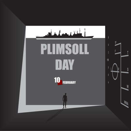 Passage in the thickness of the wall to Plimsoll Day