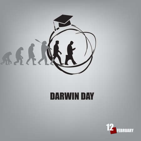 Scientific holiday date dedicated to nature discoverers Darwin - Darwin Day