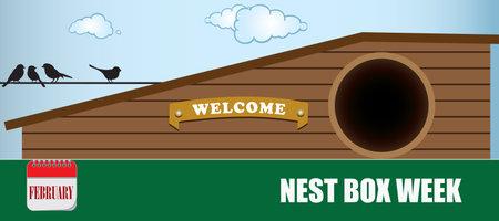 Card for event february - Nest Box Week Çizim