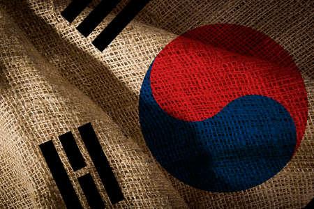 The state flag of coarse fabric South Korea