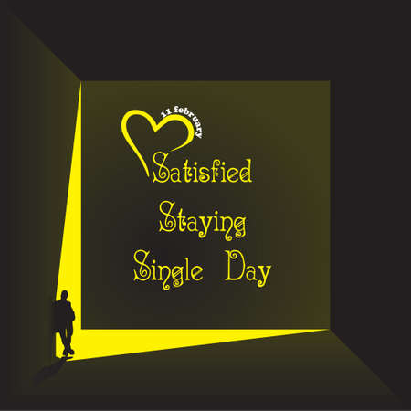 The lonely figure leans against the wall on the Satisfied Staying Single Day.