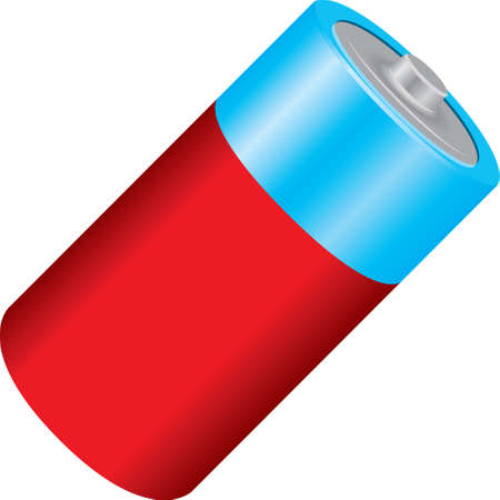 Standard cylindrical battery for storing electric current.