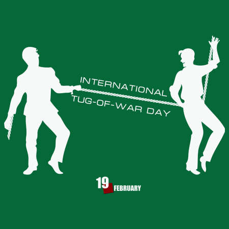 Banner for event february day International Tug of War Day