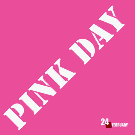 February event for Pink Day - Pink Anti-Bullying Day Çizim