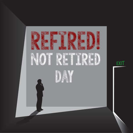 Event related to reaching retirement age - Not Retired Day. The date is celebrated in March