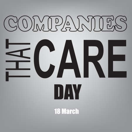 The calendar event is celebrated in March - Companies That Care Day