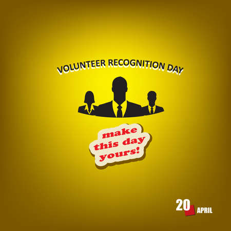 The calendar event is celebrated in april - Volunteer Recognition Day Vetores