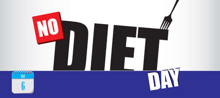 Card for event may day No Diet Day