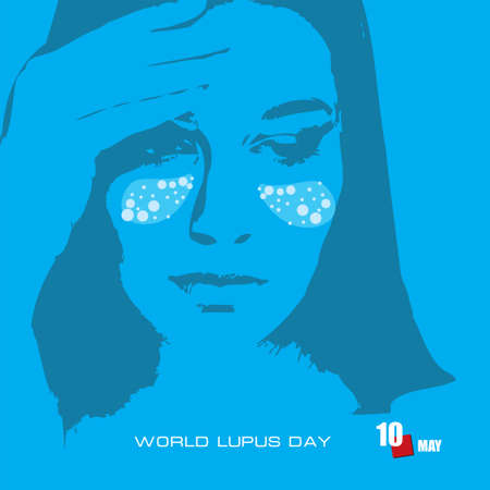 The calendar event is celebrated in may - World Lupus Day Çizim