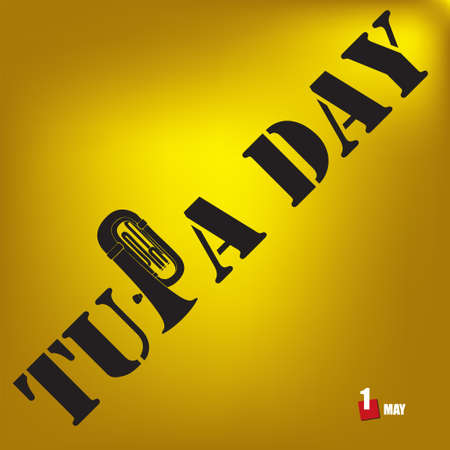 The calendar event is celebrated in april - Tuba Day