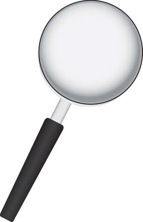 A tool for viewing small objects and text - a magnifying glass.