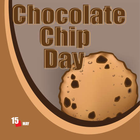 A festive event celebrated in May - Chocolate Chip Day Çizim