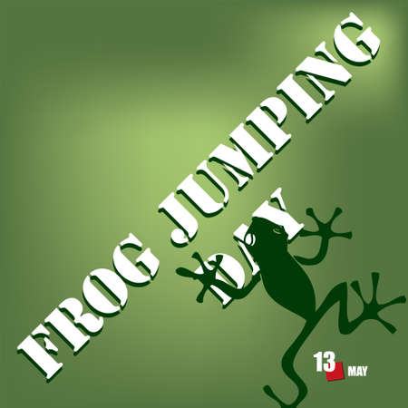 The calendar event is celebrated in may - Frog Jumping Day Çizim