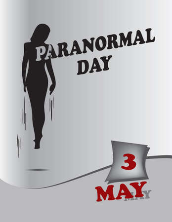 Poster Paranormal Day.Vector illustration for a holiday date in may Çizim