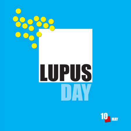 The calendar event is celebrated in may - Lupus Day Çizim