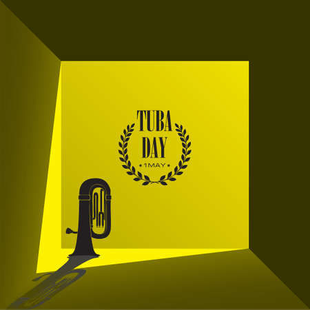 Illustration for design works of the May holiday - Tuba Day