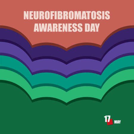 The calendar event is celebrated in may - Neurofibromatosis Awareness Day Çizim