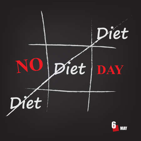The calendar event is celebrated in may - No Diet Day Çizim