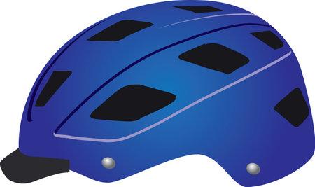 Standard cyclist helmet for road safety. Vector illustration.