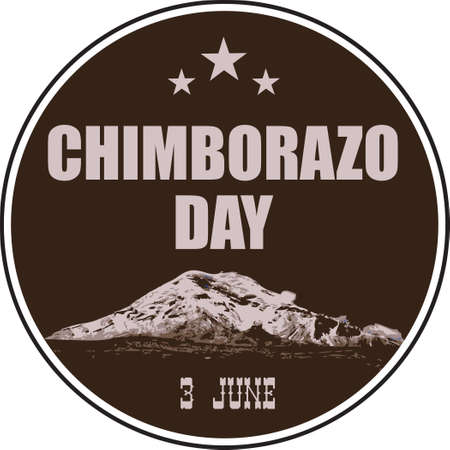 Round label for the Chimborazo Day event. Vector illustration.