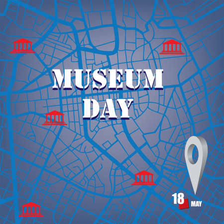 The calendar event is celebrated in may - Museum Day Çizim