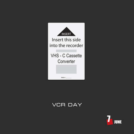 The calendar event is celebrated in june - VCR Day Çizim