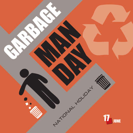 The calendar event is celebrated in june - Garbage Man Day